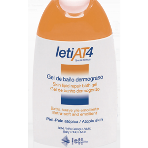 LetiAT4 Gel de Baño Dermograso 200 ml